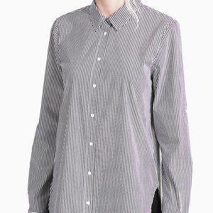 Calvin Klein black/white striped button down shirt